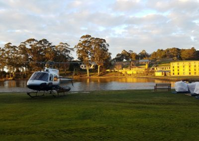 Helicopter lifts at Port Arthur